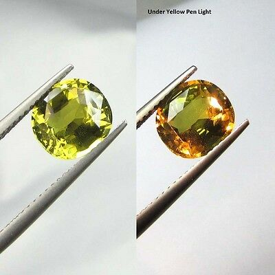 GIA CERTIFIED RARE 3.19Cts NATURAL COLOR CHANGE ALEXANDRITE