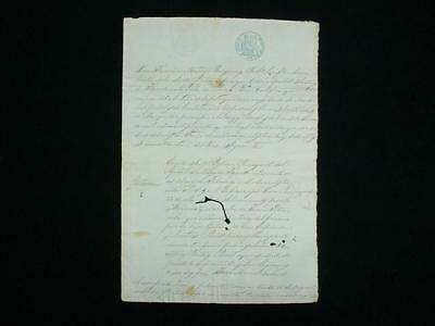 NobleSpirit {3970} Rare Puerto Rico 1856-7 Government Document Signed & Stamped