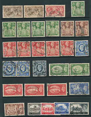 GB HIGH VALUES COLLECTION Seahorses to castles