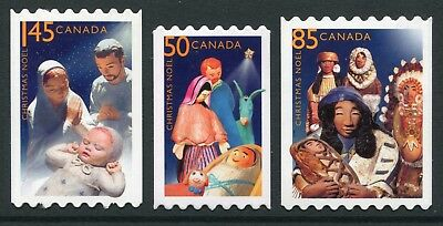 Weeda Canada 2125i-2127i VF NH Die cut Christmas Creches, from Annual Collection