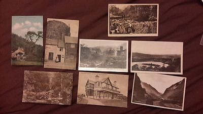 8 x Old postcards of Wales - local publishers O Evans Conway, M Roberts Cricciet