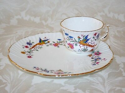 "Beautiful Vintage ""Bird Of Paradise"" Hammersley Cup And Cake/sandwich Plate Set"
