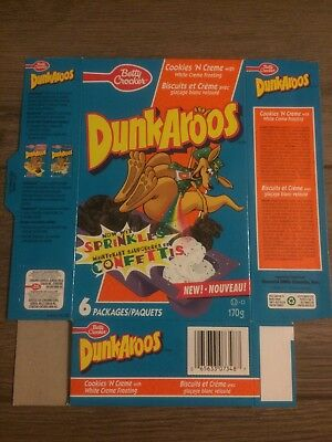 Vintage Betty Crocker Dunkaroos Box Now With Sprinkles !!