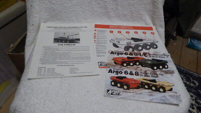 Original collection of Argocat ATV brochures dated 1980's  (3)