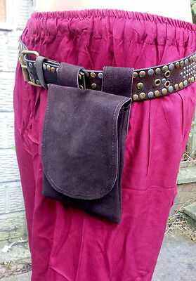 LARP Small Brown Leather Pouch,Cosplay,Reenactment,Medieval