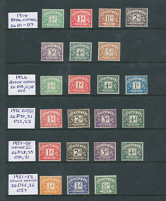 Collection  Mint Gb  Postage Dues
