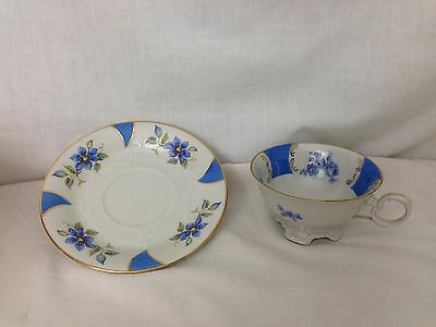 Bareuther BAVARIA Germany US Zone Tea / Coffee Cup and Saucer set Art Deco Style