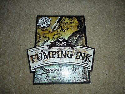 pump clip front.DBC. brewery..Pumping ink...Limited edition..