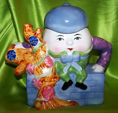 BRAND NEW - IN BOX - Colorful HUMPTY DUMPTY Teapot FEITX - Original Packaging!