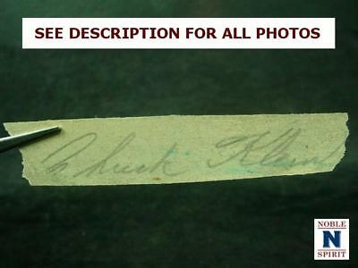 NobleSpirit NO RESERVE {3970} Extremely RARE Chuck Klein Cut Signature