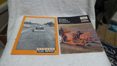 Original brochures Howard Flail Mower & Smallford Rotaplanter dated 1968