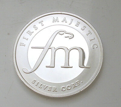 First Majestic 1 Oz Ounce Solid Silver Coin 99.999 % Silver