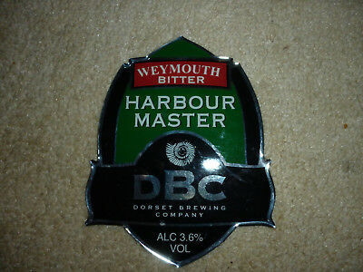 pump clip front.DBC. brewery..Harbour Master..Made of Metal..Heavy..very rare