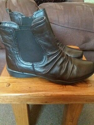 m&s footglove brown boots size 4.5 100% leather worn once no marks ex condition