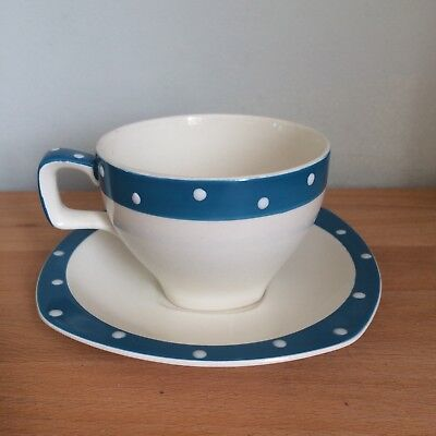 Gorgeous Vintage/Retro 50s Polka Dot Midwinter Domino Stylecraft Cup & Saucer