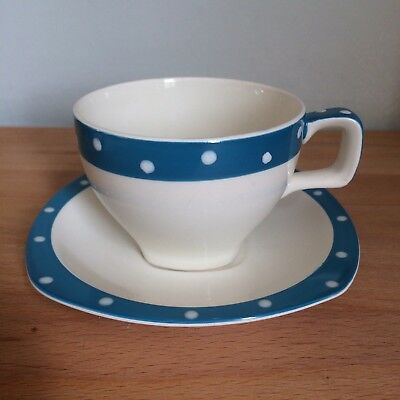 Vintage 1950s Polka Dot Midwinter Domino Stylecraft Cup & Saucer 2/2 available