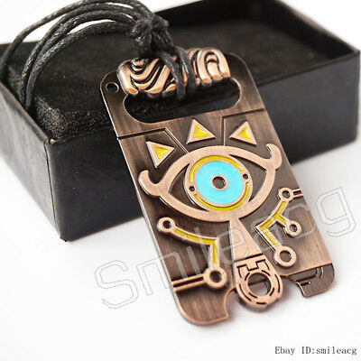 Sheikah Slate Pendant The Legend of Zelda Breath of the Wild Necklace Gift + Box