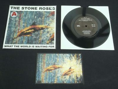"""The Stone Roses What The World Is Waiting For 1989  7"""" Vinyl Record + Postcard"""