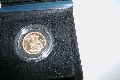 1979 GOLD PROOF 22 carat FULL SOVEREIGN 8g + Box + COA