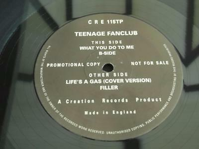 "Teenage Fanclub What You Do To Me 1992 4 Track Uk Press 12"" Vinyl Record Promo"