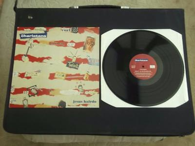 "The Charlatans Jesus Hairdo 1994 Uk Press 3 Track 12"" Vinyl Record Ep Ex/ex"