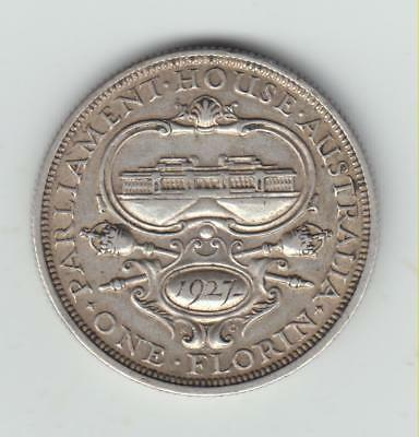 Nice Scarce Australia 1927 Silver (.925) Two Shillings, Good Fine, 2m Minted