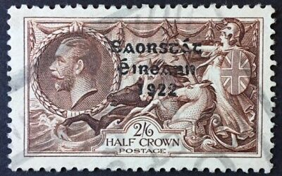 Irish 1935 Waterlow Re-engraved 2/6d nicely used with light parcel cancel SG 99
