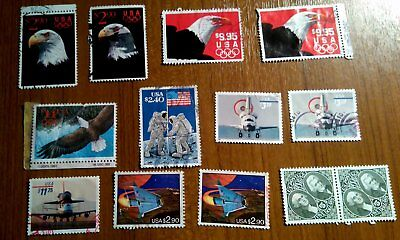 USA used high value stamps incl. some duplicates some with faults