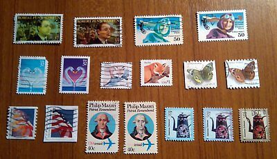 USA 8 stamps used with colour error correct stamp also included