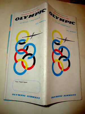 Olympic Airways Timetable 1967. Grece
