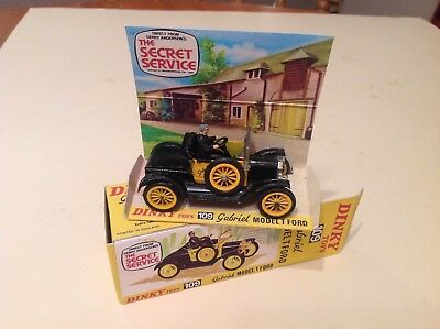 DINKY TOYS 109 Secret Service 'Gabrielle' Model T Ford with Repro box.