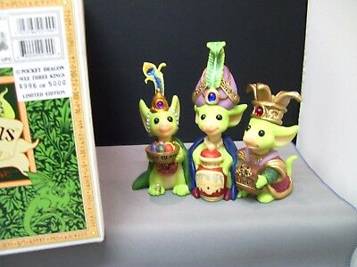 Pocket Dragons  'wee Three Kings'  2000   Limited Edition Of 5000  Mint Boxed