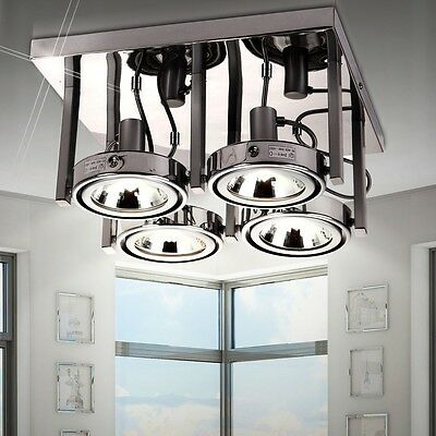 Cover Spots Living Eat Room Space Light Metal Chrome Office Hallway Spotlight