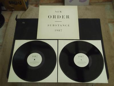 "New Order Substance 1987 Uk Press Double 12"" Vinyl Record Lp Embossed Letters"