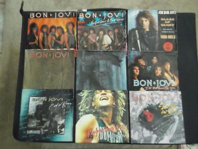 "Job Lot Of 9 X Bon Jovi 7"" Vinyl Record Singles All Listed"