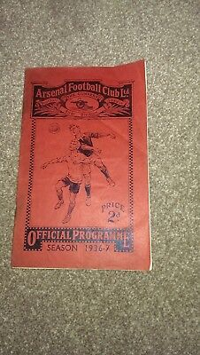 Pre War - Arsenal v West Bromwich Albion 03.04.1937 Football League Div 1
