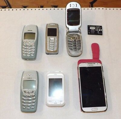 SAMSUNG GT-19505 & GT-C3300K, NOKIA 3120 & 2 of 3410 & a MOTOROLA V547 JOB LOT