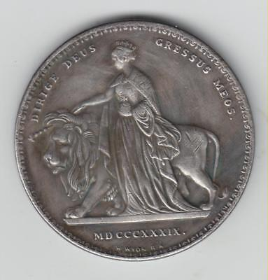 Impressive Mystery Large Victoria Medallion, Dated 1839, Diam 40mm, Any Ideas?