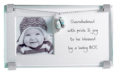 Mud Pie Baby Boy Silver Clip Picture Photo Frame with Jeweled Shoe Charm 177141