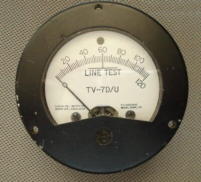 TV-7D/U Vacuum Tube Tester Meter TV7D/U Dixson made