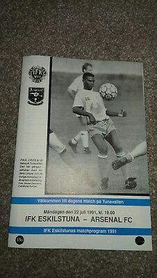 IFK Eskilstuna v Arsenal 22.07.1991 Pre Season Tour of Scandinavia - Friendly