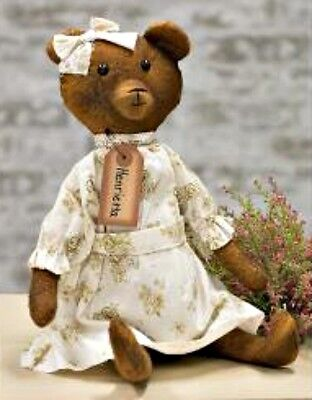 Primitive Reproduction Antique Look `Hennrietta the Teddy Bear `3 way Jointed