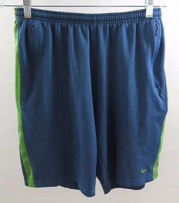 Nike Dri Fit Basketball Athletic Running Shorts Vented Blue Mens Size Medium M