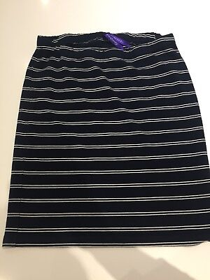 Seraphine Maternity Skirt Blue And White Stripped Breton Size 8