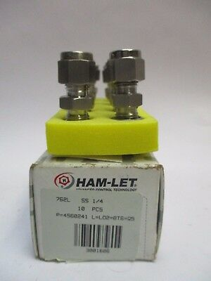 Ham-Let 762LSS1/4 Union Connector Tube Fitting (10Pk)