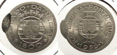 INDIA: Portuguese India 1959 Escudo Cancellation - Crushed by Indian troops. #WC