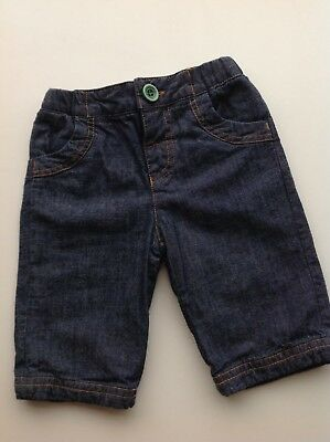 Joules cotton jersey-lined jeans trousers 0-3 months - FREE P&P! (2 of 2)