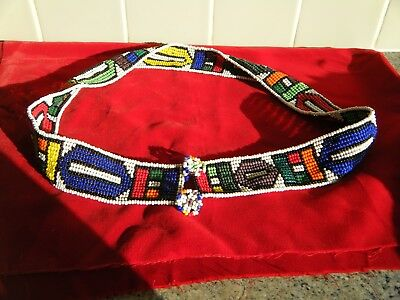 Vintage Native Indian Ornate Beaded Belt
