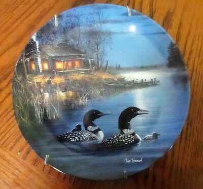 """""""Moonlight Echoes"""" by Jim Hansel Decorative Plate 1993 1st Edition"""
