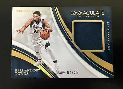 2016-17 Panini Immaculate Sneaker Swatches Karl-Anthony Towns 07/25!